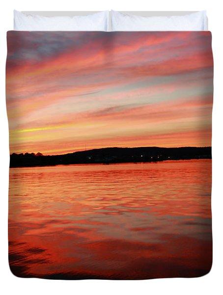 Sunset Row Duvet Cover