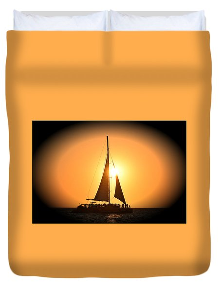 Sunset Sail Duvet Cover by Gary Smith