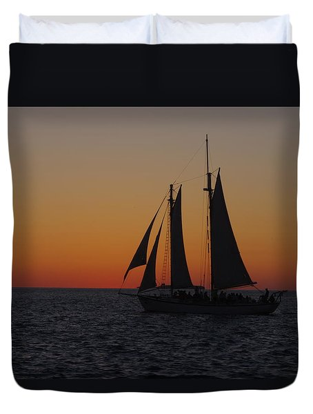 Sunset Sail Duvet Cover by Greg Graham