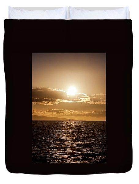 Sunset Sailboat Duvet Cover