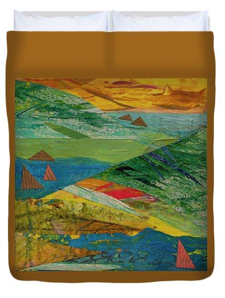 Sunset Sails 3 Duvet Cover