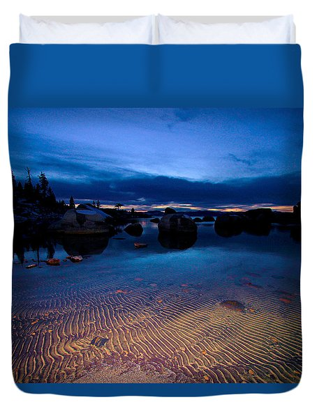 Sunset Sand Ripples Duvet Cover by Sean Sarsfield