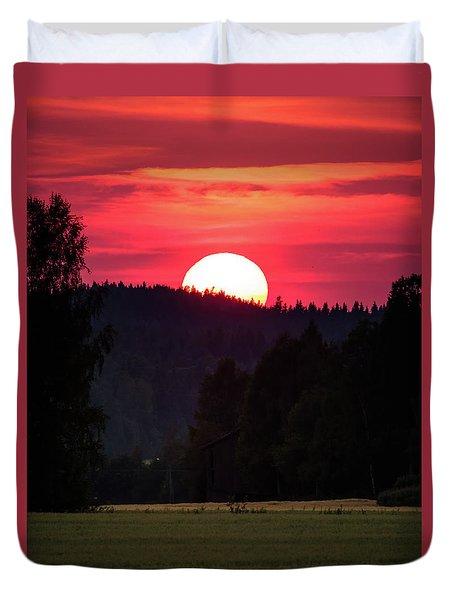 Sunset Scenery Duvet Cover