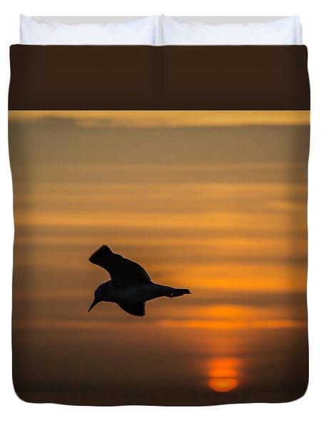 Sunset Seagull Duvet Cover