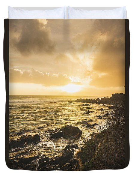 Sunset Seascape Duvet Cover