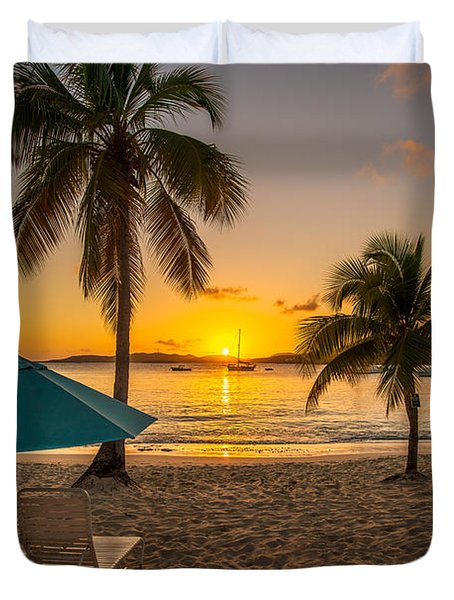 Sunset Secret Harbor Duvet Cover