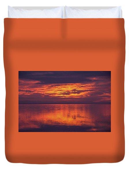 Sunset Sequim Duvet Cover