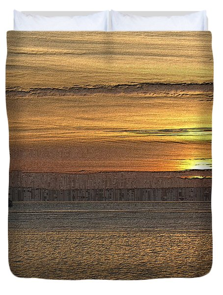Sunset Serenade Duvet Cover by Tim Allen
