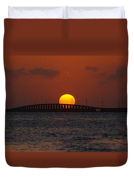 Sunset Seven Mile Bridge Duvet Cover