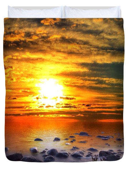 Sunset Shoreline Duvet Cover