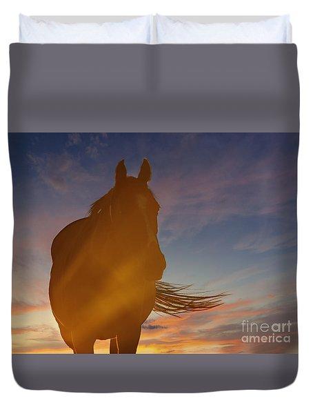 Sunset Silhouette Duvet Cover