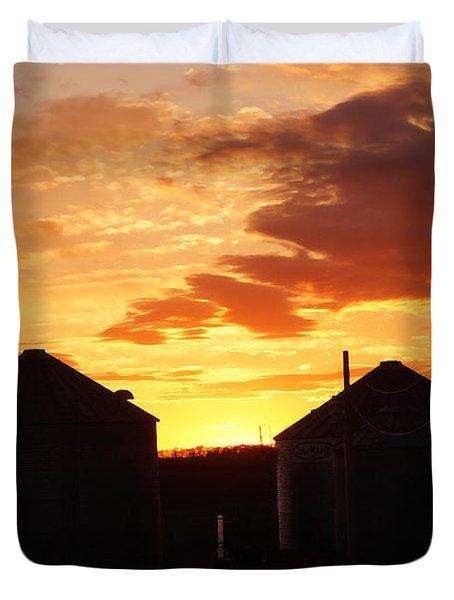 Sunset Silos Duvet Cover