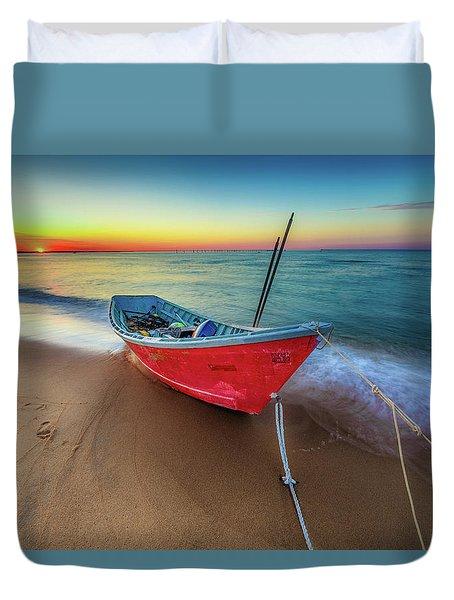 Sunset Skiff Duvet Cover