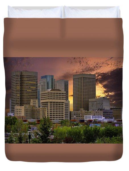 Sunset Skyline Duvet Cover