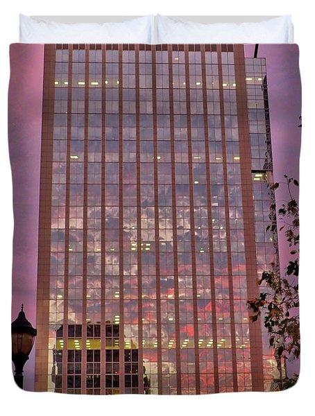 Sunset Skyscraper Duvet Cover