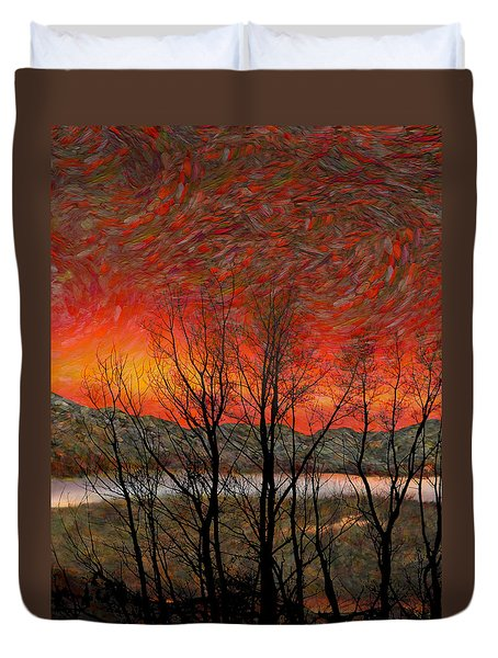 Sunset Soliloquy Duvet Cover