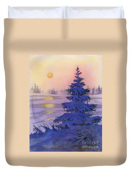 Sunset Solitaire Duvet Cover