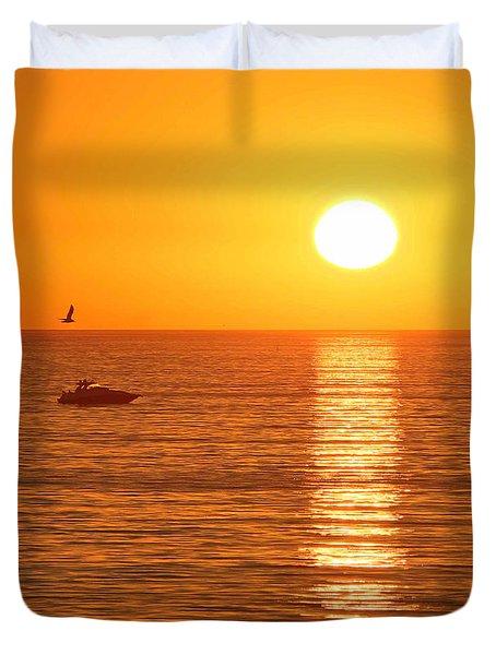 Sunset Solitude Duvet Cover
