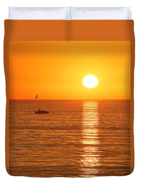 Sunset Solitude Duvet Cover