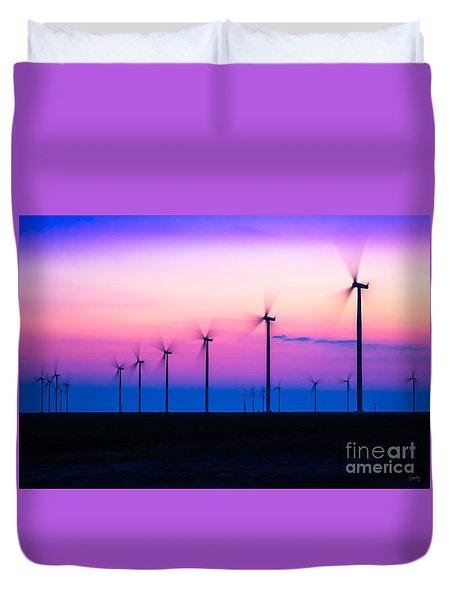 Sunset Spinning Duvet Cover
