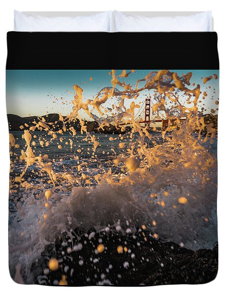 Sunset Splash Duvet Cover