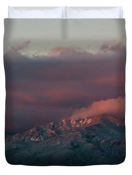 Sunset Storm On The Sangre De Cristos Duvet Cover
