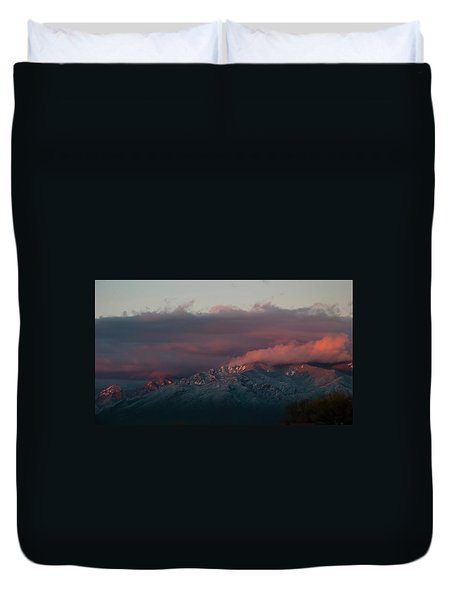 Sunset Storm On The Sangre De Cristos Duvet Cover