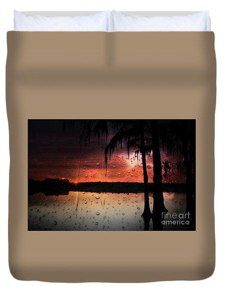 Sunset Storms Duvet Cover