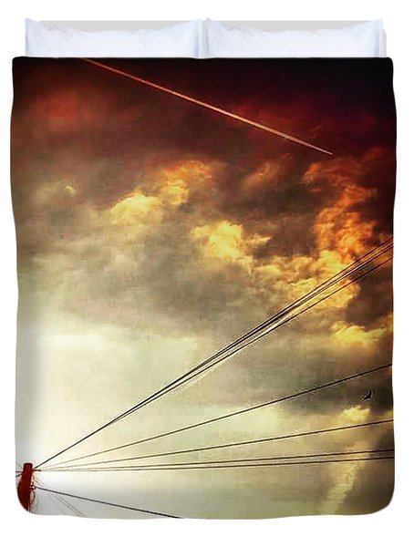 #sunset #sun #tagsforlikes.com #tflers Duvet Cover by Jason Michael Roust