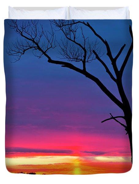 Sunset Sundog  Duvet Cover