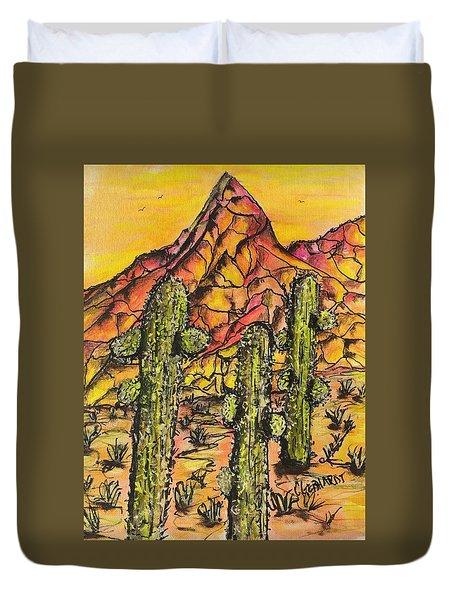 Desert Sunset Sunrise  Duvet Cover