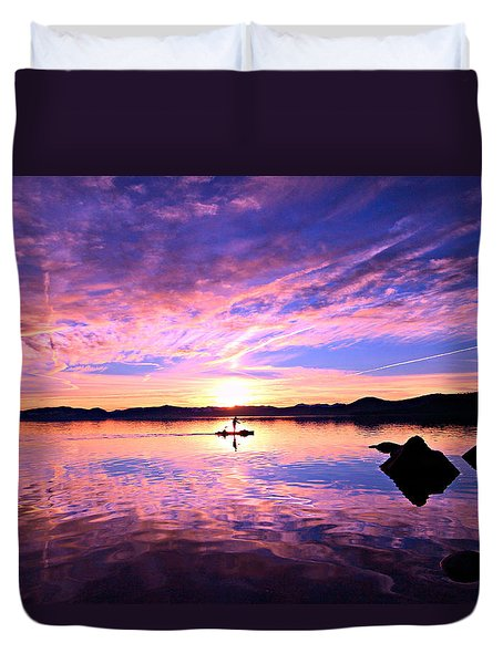 Sunset Supper Duvet Cover by Sean Sarsfield