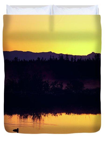 Sunset Swim Duvet Cover