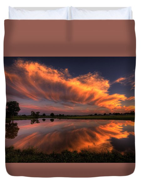 Sunset Symmetry Duvet Cover