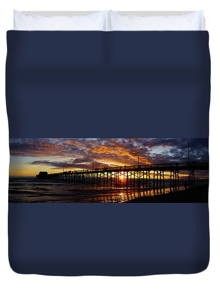 Duvet Cover featuring the photograph Sunset  by Thanh Thuy Nguyen