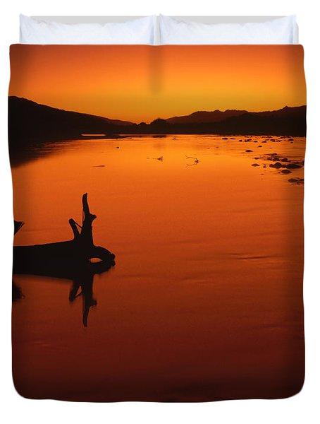 Sunset, The Wairau Valley Marlborough New Zealand Duvet Cover