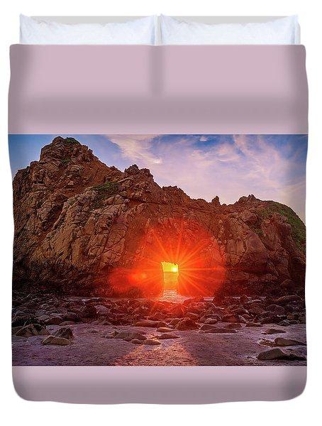 Sunset Through  Duvet Cover