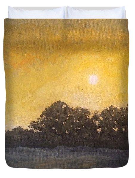 Sunset Through The Fog Duvet Cover