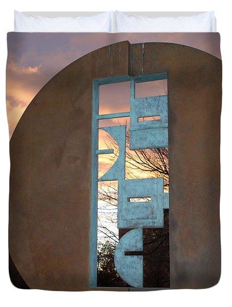 Sunset Thru Art Duvet Cover by Rob Hans