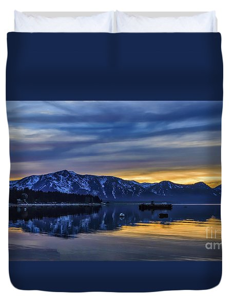 Sunset Timber Cove Duvet Cover by Mitch Shindelbower