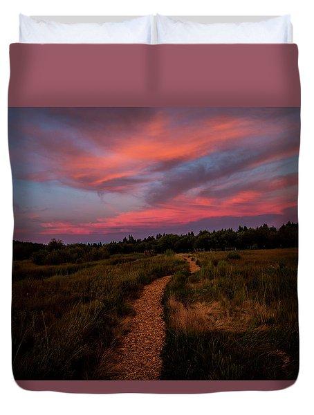 Sunset Trail Walk Duvet Cover