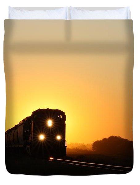 Sunset Express Duvet Cover