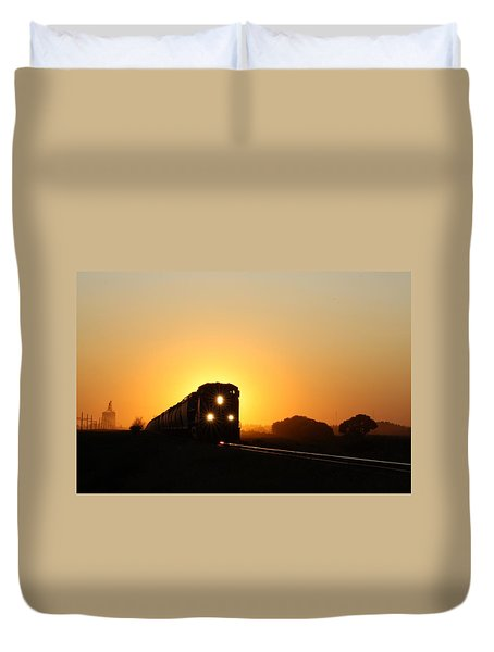 Sunset Express Duvet Cover