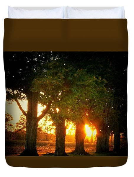 Sunset Trees Duvet Cover by Joyce Kimble Smith