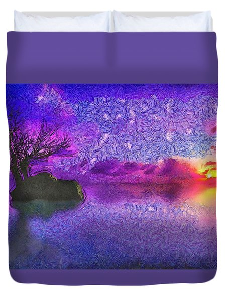 Sunset Tribute To Van Gogh Duvet Cover