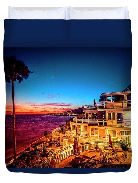 Sunset Twilight At The Laguna Riviera Duvet Cover