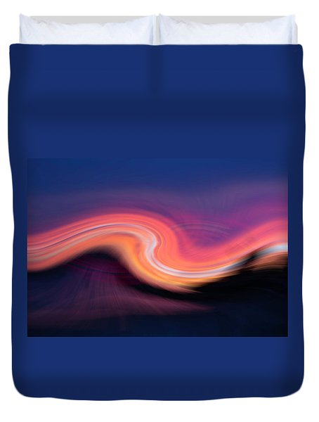 Sunset Twirl Duvet Cover