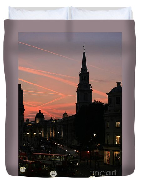 Sunset View From Charing Cross  Duvet Cover