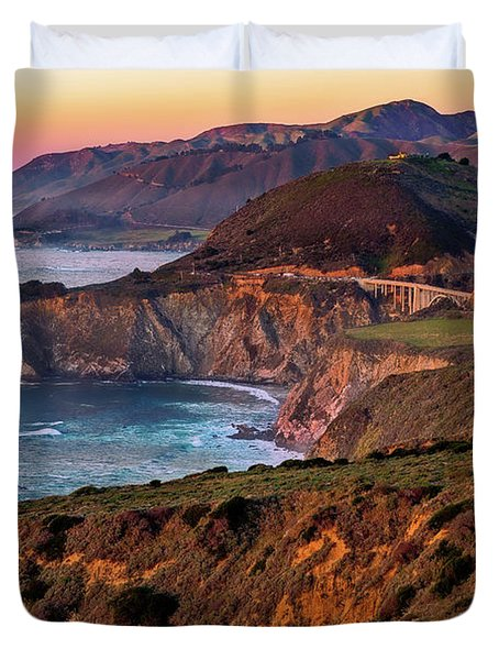 Sunset View From Hurricane Point Duvet Cover