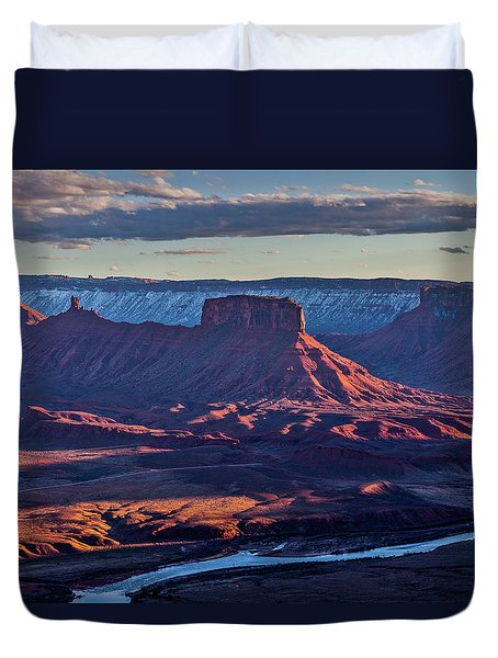 Sunset View From Omg Point Duvet Cover